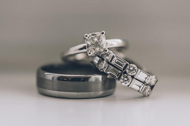 Tara and Dom wedding rings at Crystal Ballroom, NJ photography by NY NJ Wedding Photographers Pearl Paper Studio.