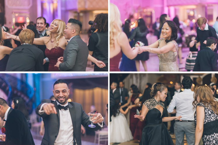 Giselle and Lynn winter wedding reception at The Venetian NJ photography by NY NJ Wedding Photographers Pearl Paper Studio.