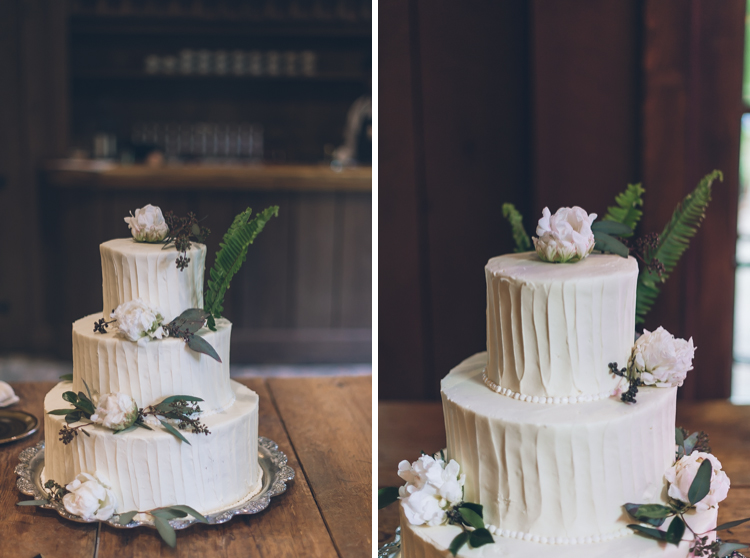 Rustic and super minimal wedding cake. Christy and Chris