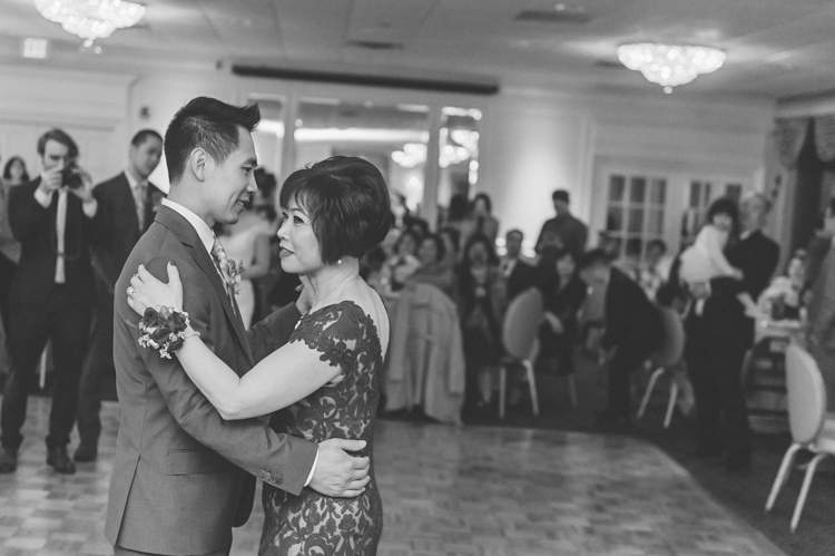 Groom and mother dance . Eva and Sam