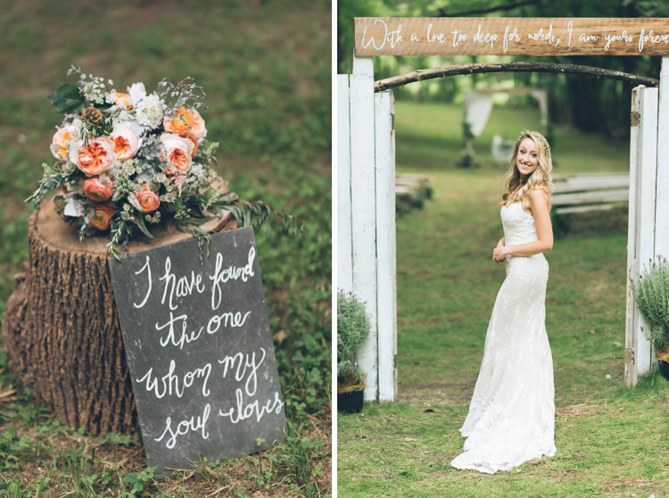 Megan and Ryan's rustic family farm wedding hosted at Megan's parents