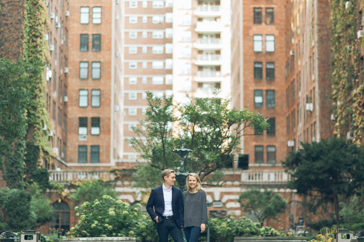 We met up with Caroline and Eric near their apartment London terrace gardens in Chelsea 23rd between 9th and 10th Avenue for low key Manhattan engagement session. Caroline and Eric's Chelsea engagement captured by MJ from Pearl Paper Studio. We are New Jersey, New York and Long Island wedding photographers and our passion is to photograph fun, warm and energetic couples on their wedding day. We love to hear about your wedding day, and we would be thrilled to be part of it.