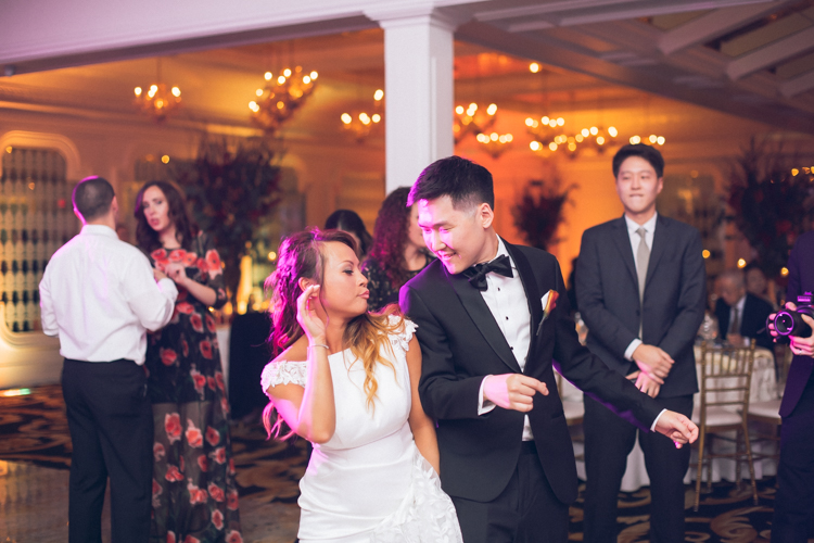 Westmount Country Club NJ wedding with Linh and Justin this past October. Fall outdoor wedding ceremony at Westmount Country Club's terrace was so dreamy and magical with Fall foliage in the background. Linh and Justin interracial wedding of Korean and Pilipino sides celebrated their son and daughter's wedding day. Our bride Linh and Justin danced and partied like a rock star and as well as their friends and family at Westmount Country Club. Westmount Country Club NJ Fall wedding with Linh and Justin captured by Steve and Edmund from Pearl Paper Studio. Pearl Paper Studio wedding photography studio covering New Jersey, New York and Long Island brides and our passion is to photograph fun, warm and energetic couples on their very special wedding day.