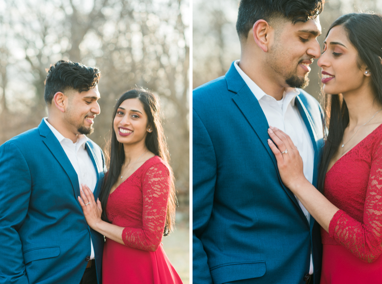 New Jersey Botanical Garden winter engagement session with Ann and Joey. Ann and Joey are adorable Indian couple and we spend afternoon with Ann and Joey at NJ Botanical Garden during their engagement session. We were able to catch amazing golden hour during the sunset and was just gorgeous. Ann and Joey's NJ Botanical Garden engagement during golden hour captured by MJ from Pearl Paper Studio. Pearl Paper Studio, fun, real, non-traditional wedding photographers located in New Jersey, New York and Long Island. Sometimes we love to travel so tell us about your wedding day.