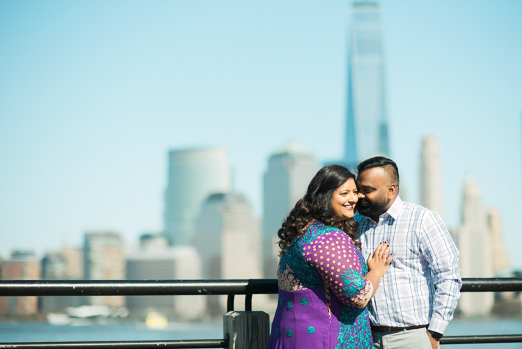 Liberty State Park Jersey City NJ Engagement Session with Lydia and Simon was our last session before state of NJ went into lockdown for COVID-19 pandemic crisis. Thankfully there wasn't too many people so we kept our distance and took some fun and heart warming engagement photos for Lydia and Simon with the best view of NYC. Liberty State Park in Jersey City is truly the best place to go to get the best view of New York City with Freedom Tower right in the back ground. Lydia and Simon's Spring 2020 engagement session captured by MJ from Pearl Paper Studio. Pearl Paper Studio, fun, real, non-traditional wedding photographers located in New Jersey, New York and Long Island. Sometimes we love to travel so tell us about your wedding day.