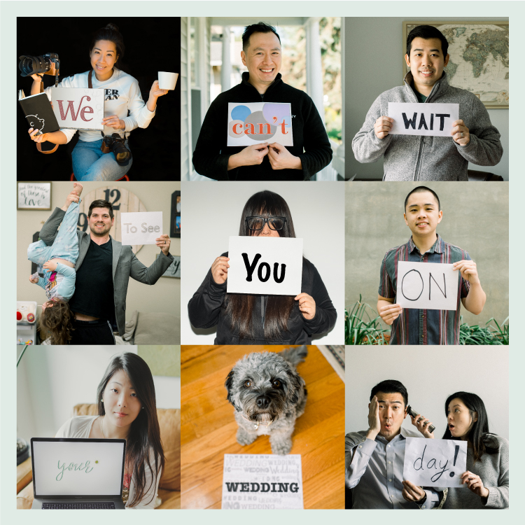 "Photographers at Pearl Paper Studio sends message to 2020 and 2021 wedding couples during COVID-19. ""We can"