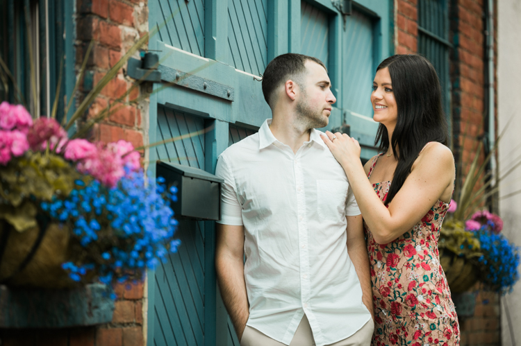 State rules and regulations are loosening up we are able to go out and finally photograph couples. Steve is at Hoboken NJ photographing Alicia and James' engagement session. We walked around Hoboken waterfront, cobble stone street, colorful garage door, brownstones, Alicia and James' Hoboken NJ engagement session captured by Steve from Pearl Paper Studio. Pearl Paper Studio is here to capture real emotions, fun couples with non-traditional wedding stories, we are currently booking fall 2020 and 2021 weddings in New Jersey, New York and Long Island. Until we meet again please be safe and healthy during this strange time called COVID-19
