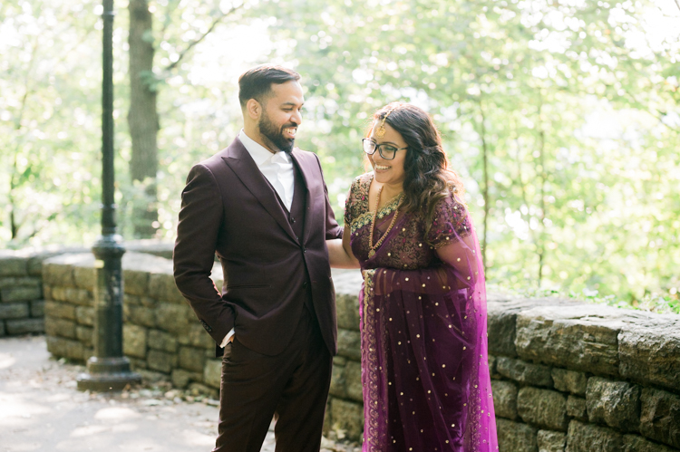 Fort Tryon Park and Harlem NY engagement session with Grace and Tanveer during the pandemic. Grace and Tanveer walked around Fort Tryon Park and around Harlem NY in their Indian outfits for their engagement photo captured by Steve from Pearl Paper Studio. Pearl Paper Studio is here to capture real emotions, fun couples with non-traditional wedding stories, we are currently booking fall 2020 and 2021 weddings in New Jersey, New York and Long Island. Until we meet again please be safe and healthy during this strange time called COVID-19